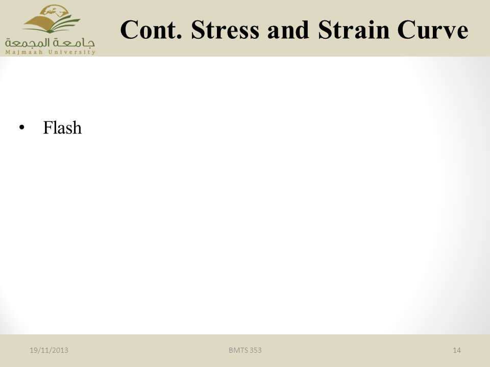 Cont. Stress and Strain Curve