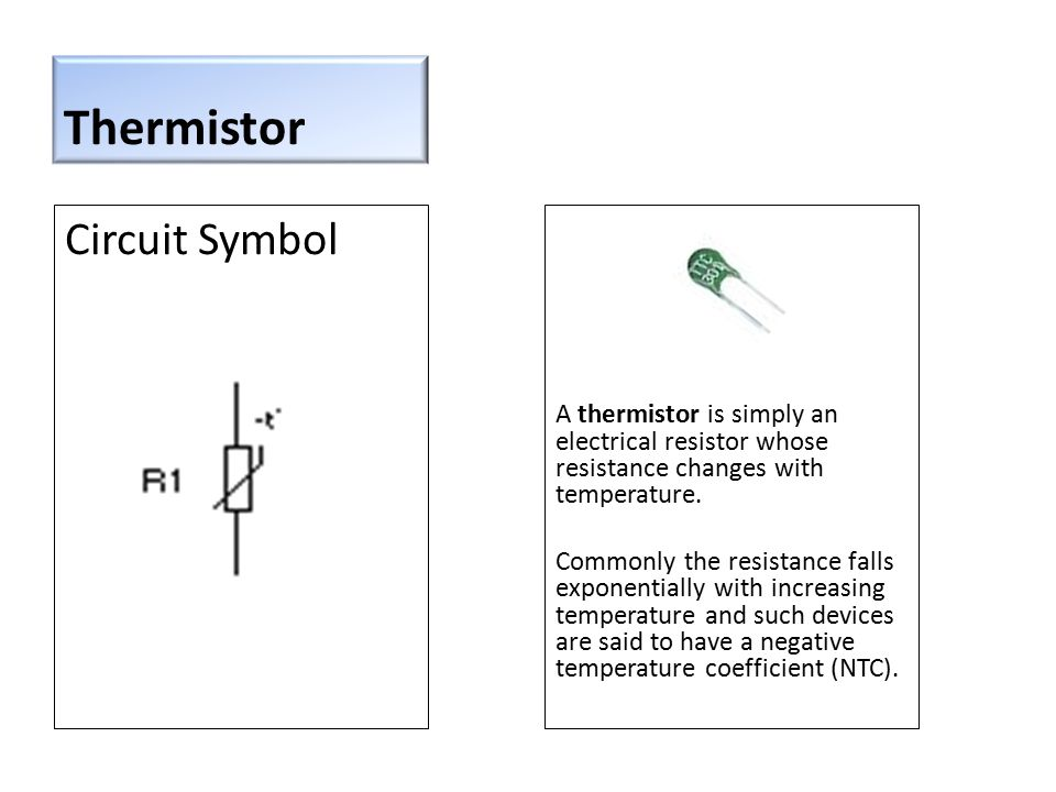 a thermistor is simply an electrical resistor whose resistance changes with  temperature  commonly the resistance falls exponentially with increasing