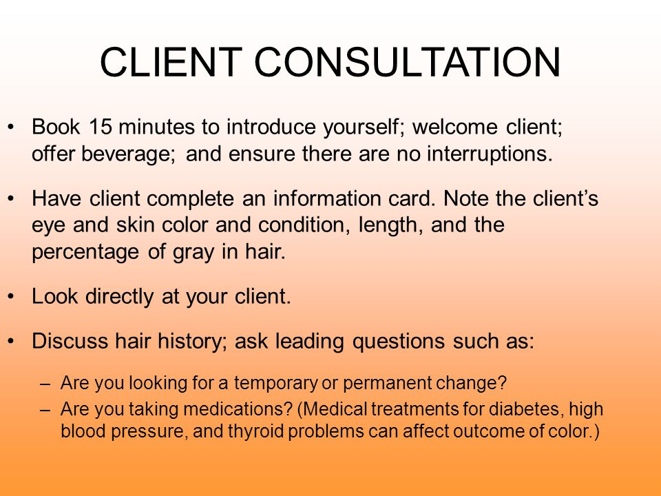 Communicating For Success Haircoloring Ppt Download