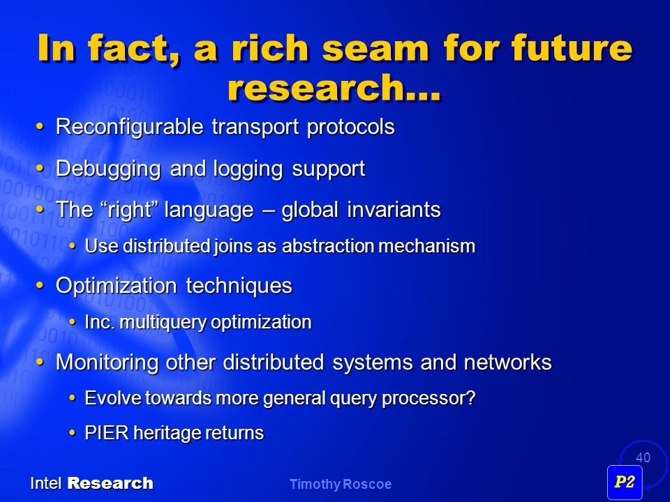 In fact, a rich seam for future research…