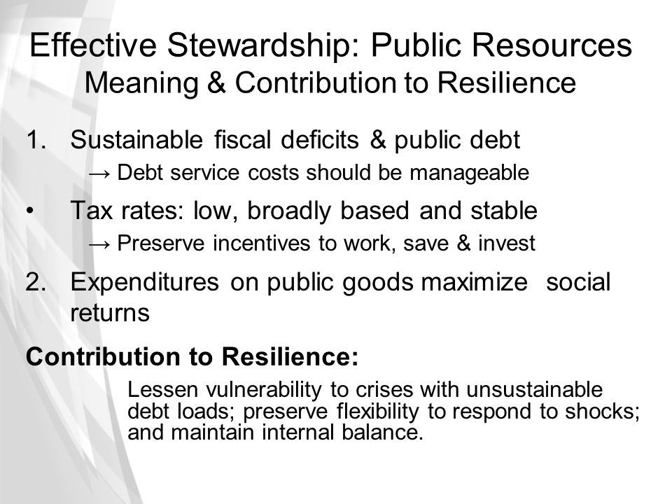 Effective Stewardship: Public Resources Meaning & Contribution to Resilience