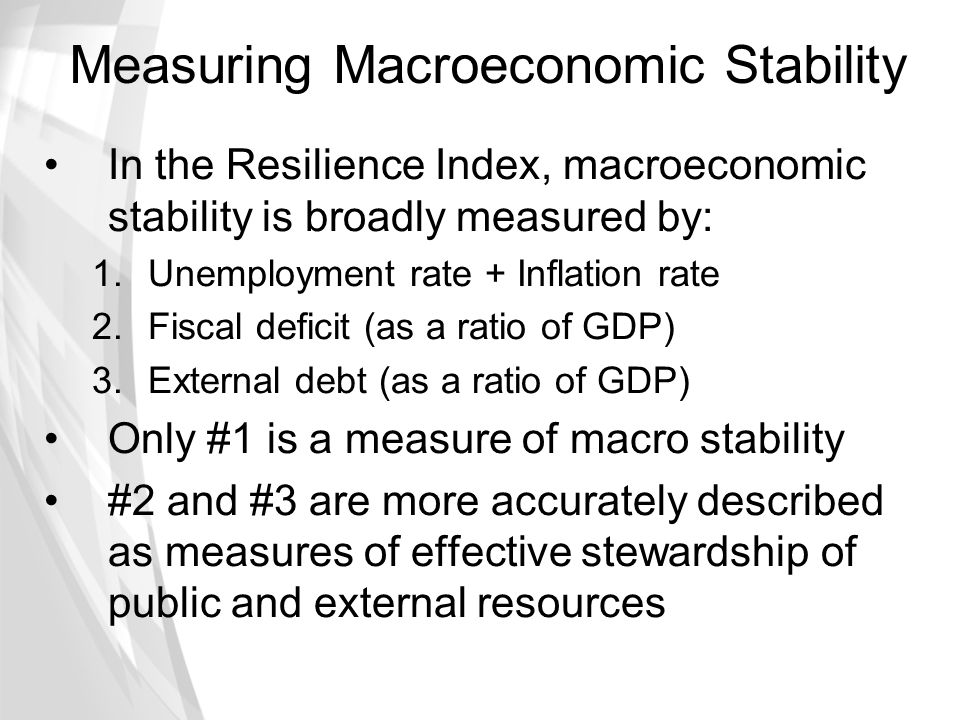 Measuring Macroeconomic Stability