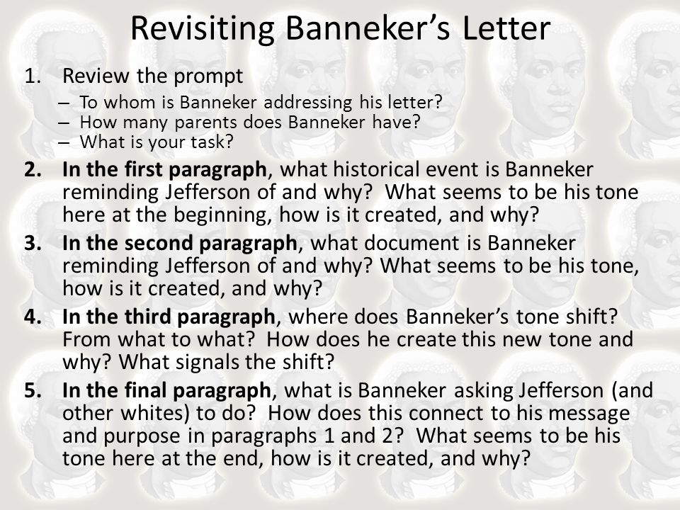 benjamin banneker letter to thomas jefferson revisiting banneker s letter ppt 4252