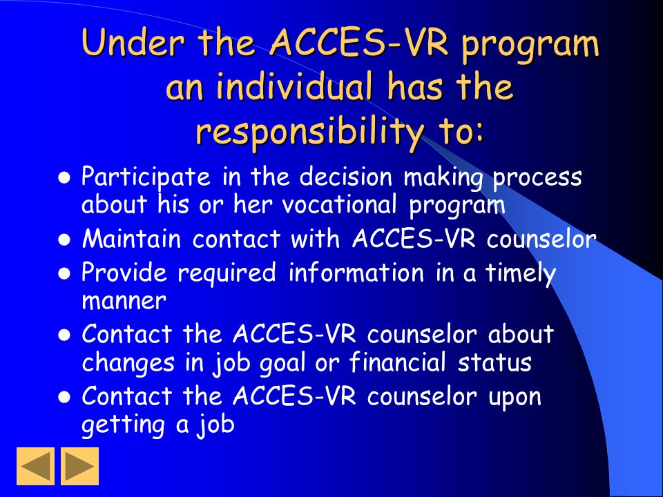 Acces Vr Transition Services Ppt Download