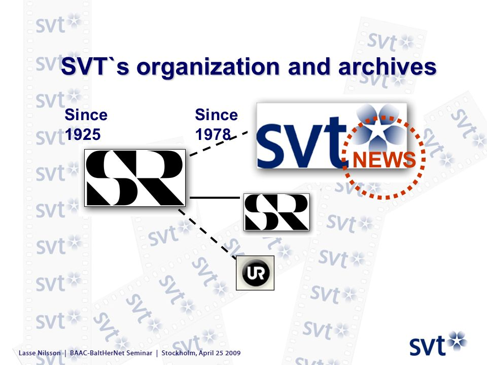 SVT`s organization and archives