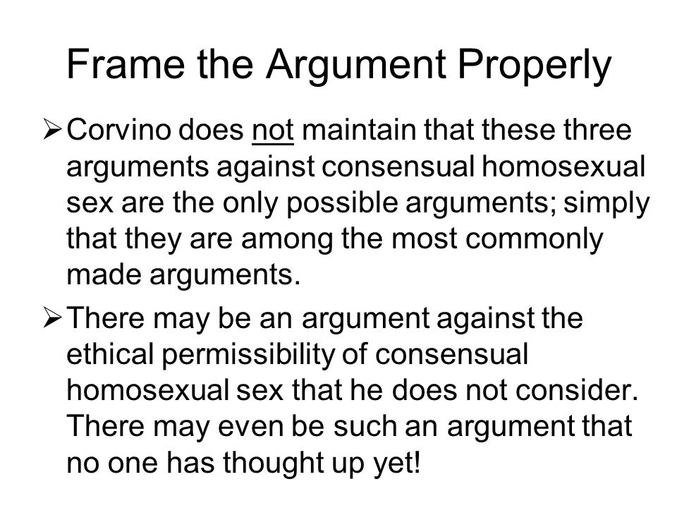 Corvino a defense of homosexuality