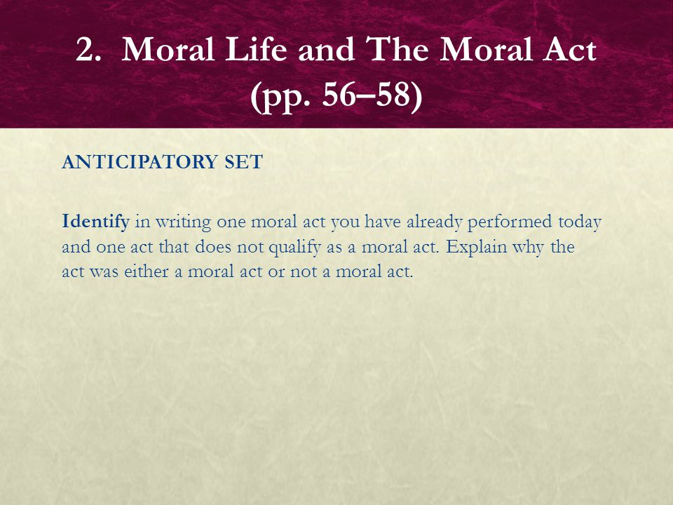 writing as a moral act