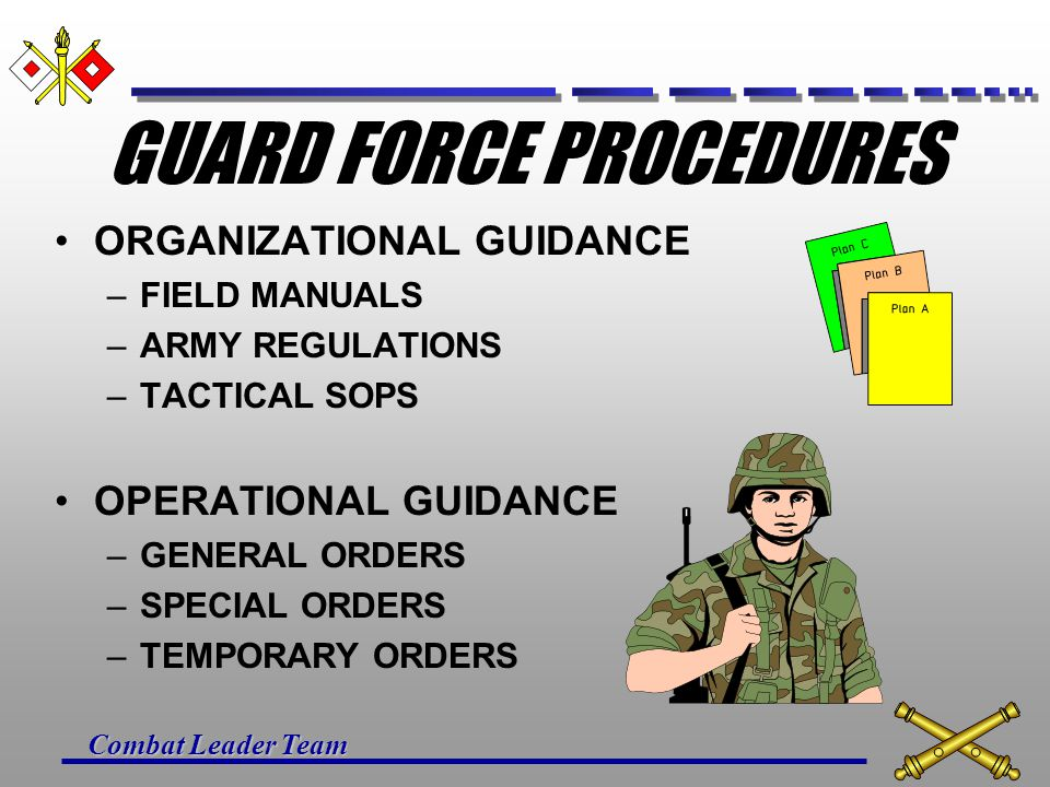 GUARD FORCE PROCEDURES