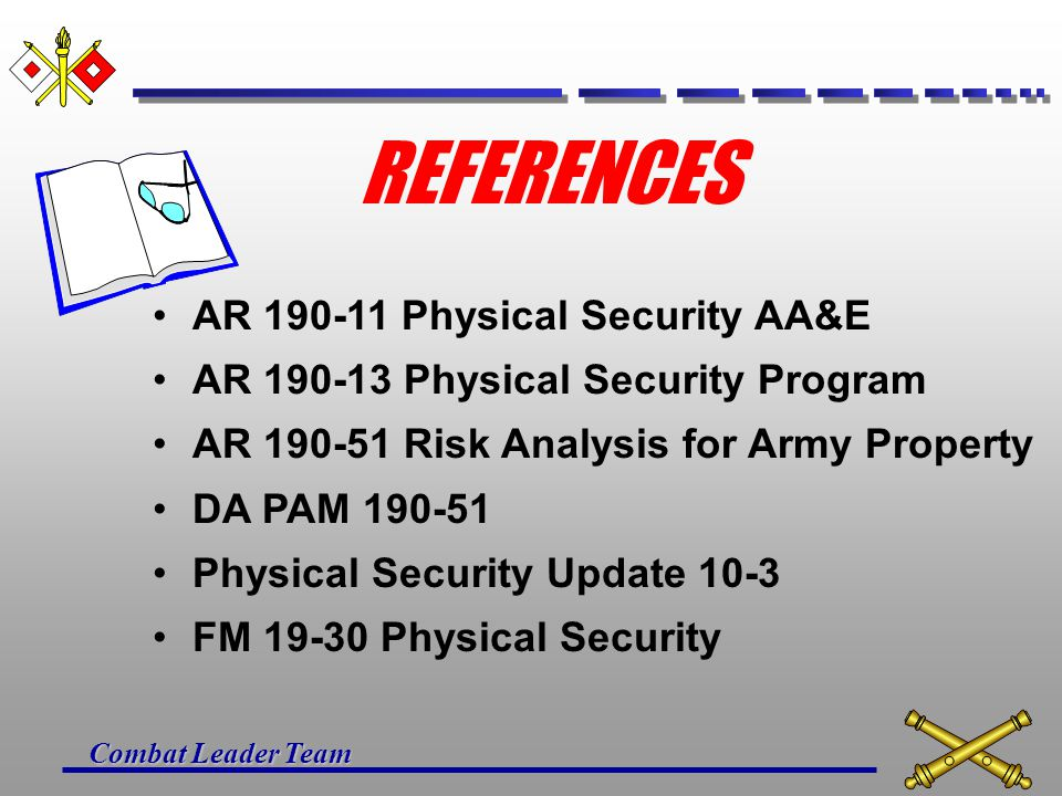 REFERENCES AR Physical Security AA&E