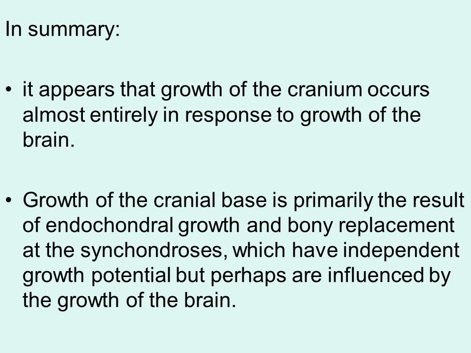 Growth Of The Craniofacial Skeleton Ppt Video Online Download It showed the characteristic structure with a central zone of equally distributed chondrocytes. growth of the craniofacial skeleton