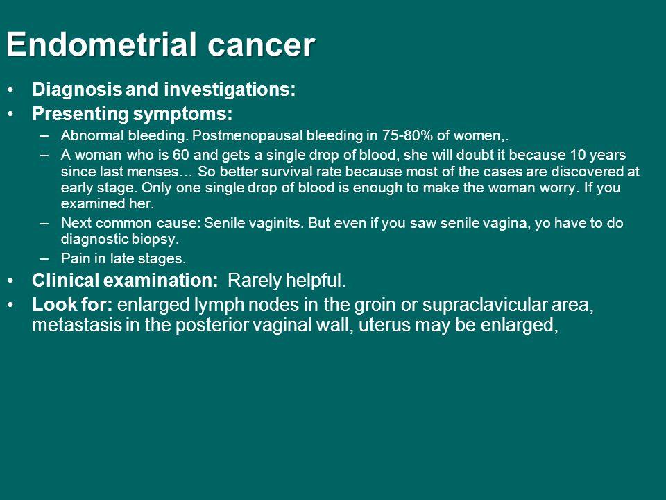 endometrial cancer investigations