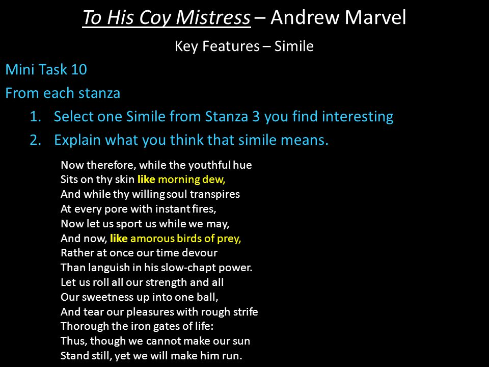the willing mistress poem analysis