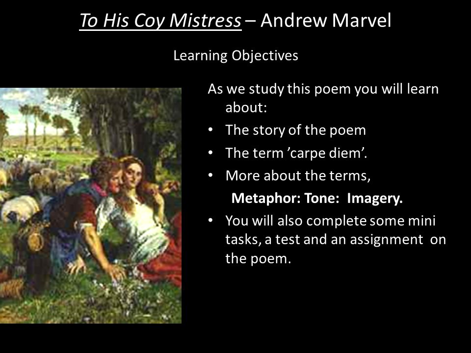 to his coy mistress summary and analysis