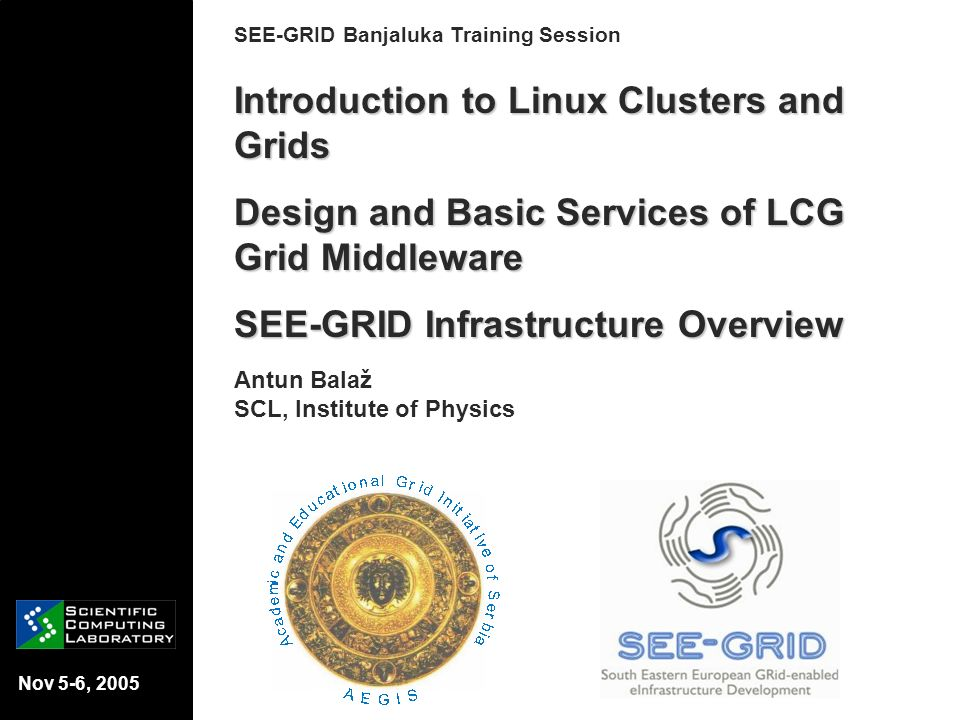 Introduction to Linux Clusters and Grids