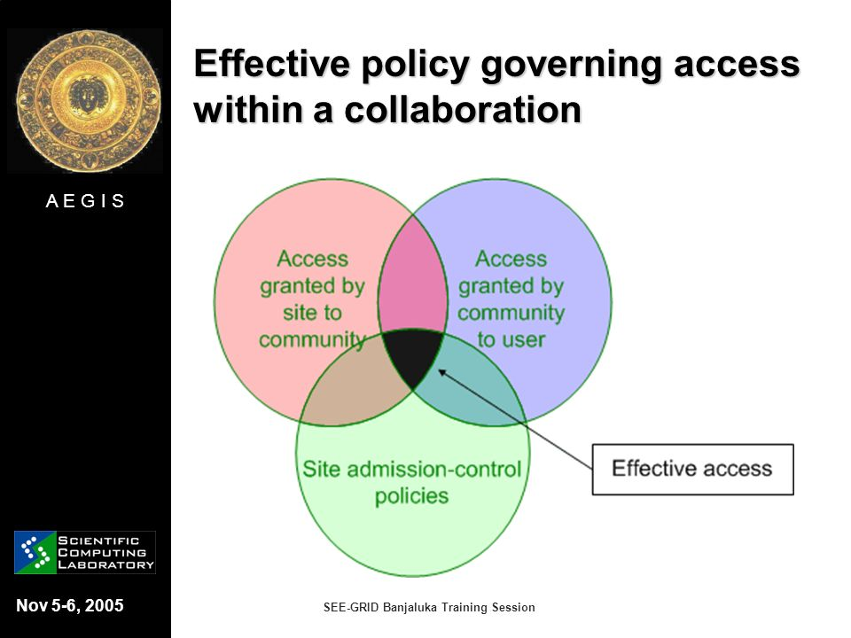 Effective policy governing access within a collaboration