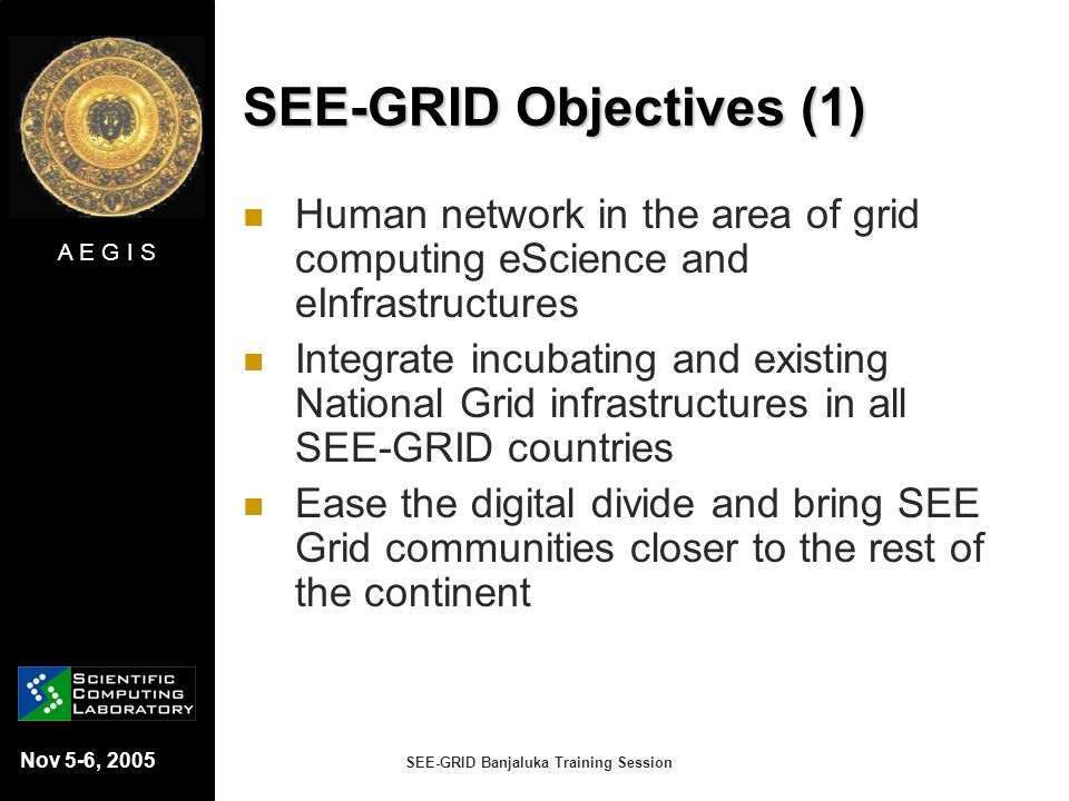 SEE-GRID Objectives (1)