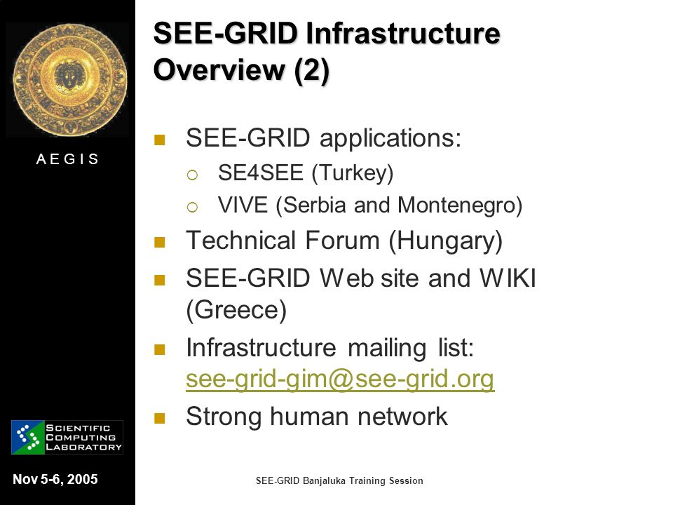 SEE-GRID Infrastructure Overview (2)