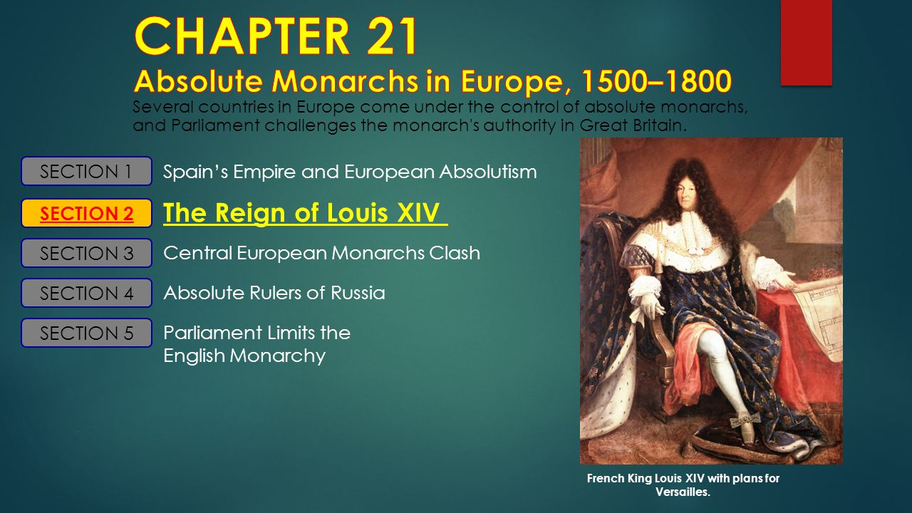French King Louis XIV with plans for Versailles.