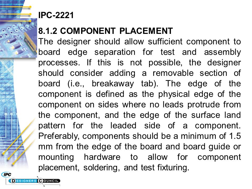IPC COMPONENT PLACEMENT - ppt video online download