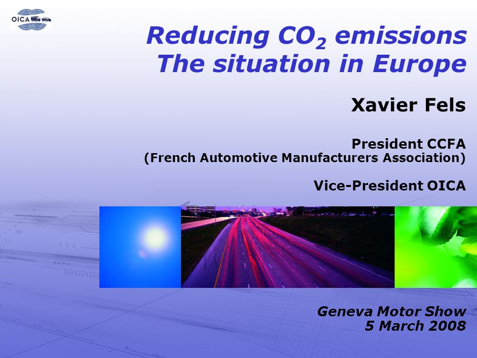 Reducing CO2 emissions The situation in Europe