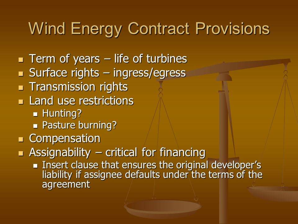 Wind Farm Legal Issues Roger A Mceowen Ppt Video Online Download