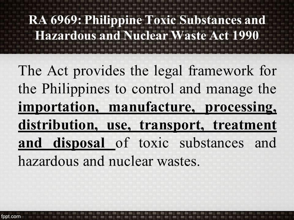 ra 6969 hazardous waste and toxic waste