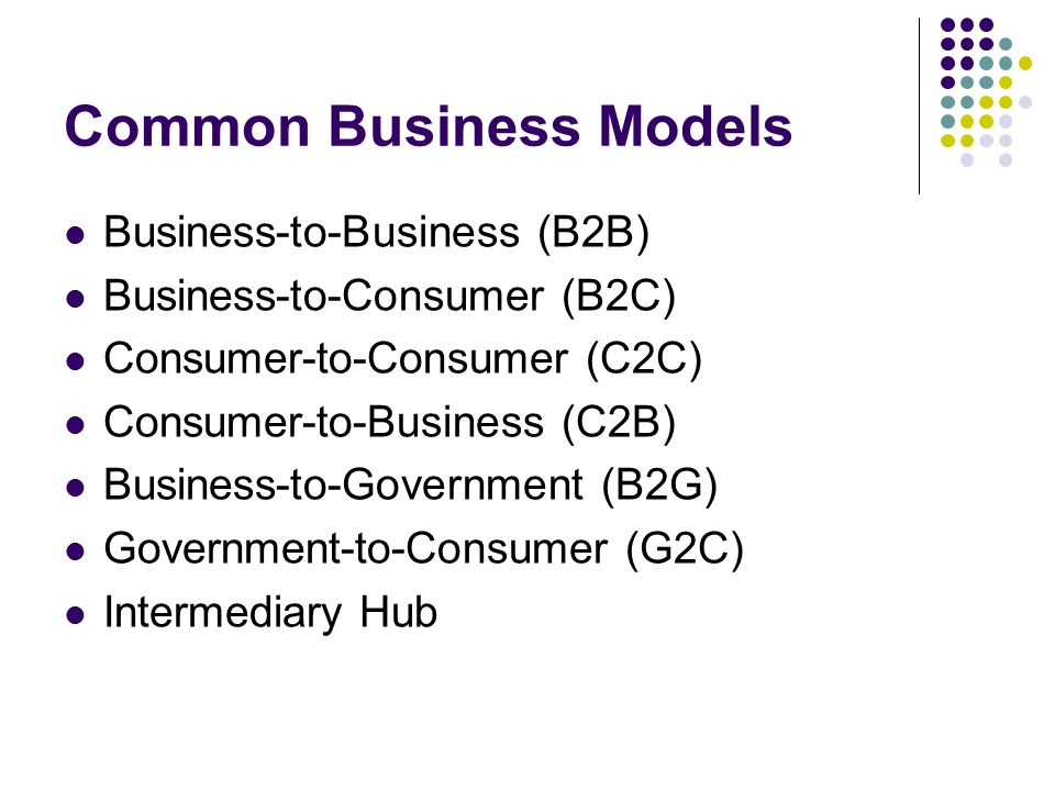 Common Business Models