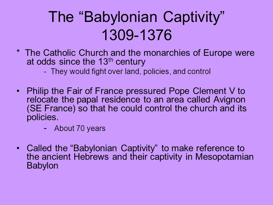 Image result for babylon and avignon