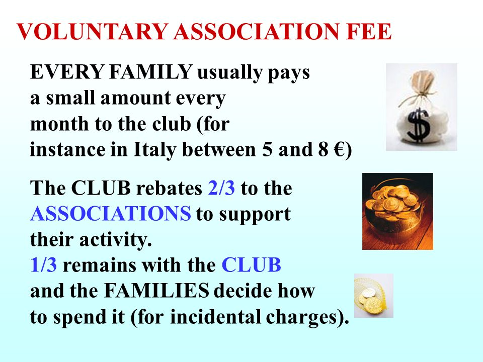 VOLUNTARY ASSOCIATION FEE