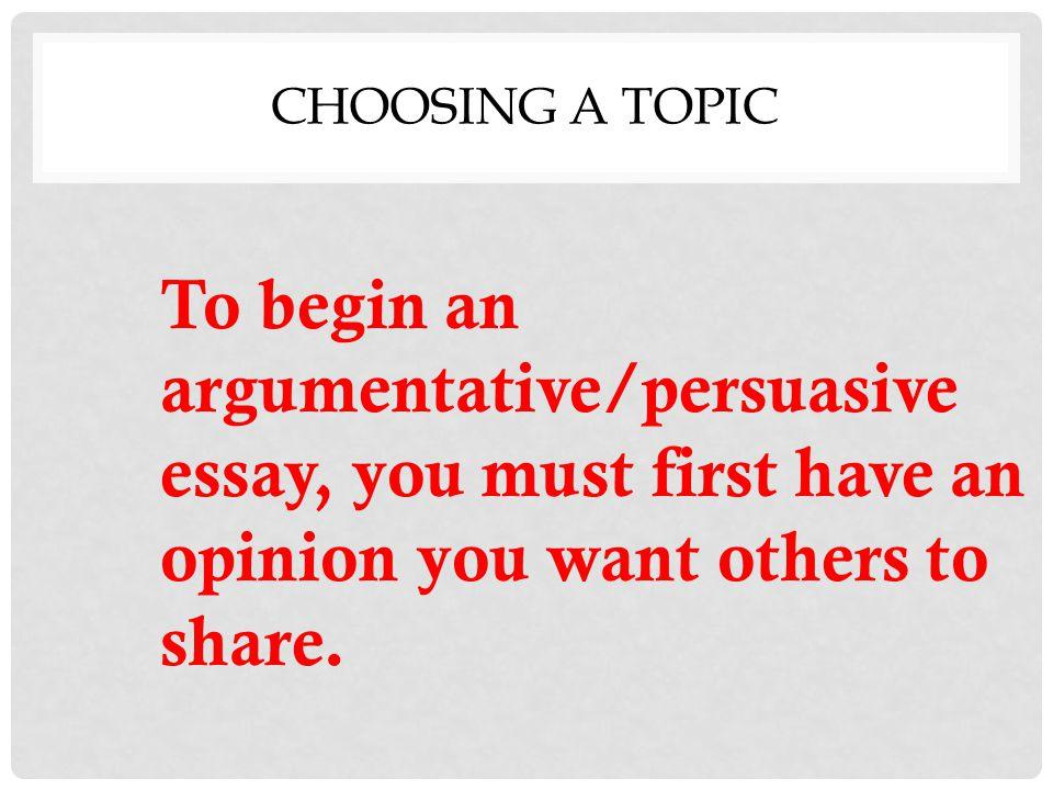 argumentative or persuasive essay