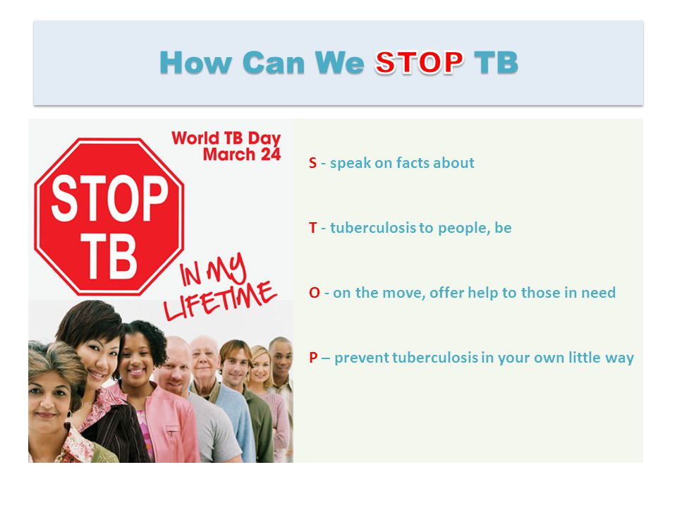 How Can We STOP TB S - speak on facts about