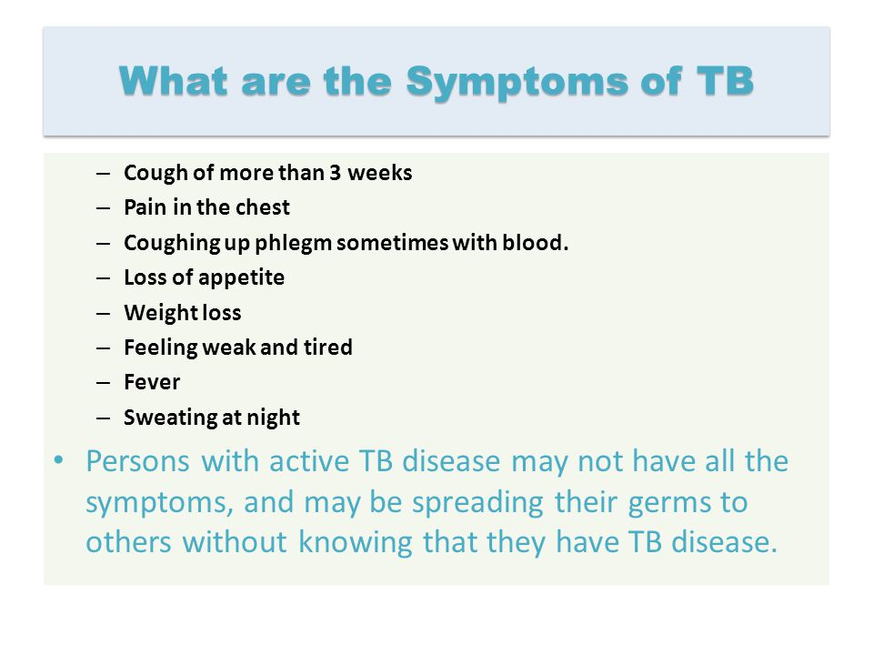 What are the Symptoms of TB