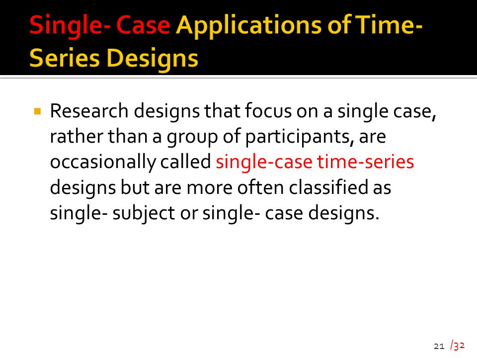 Single- Case Applications of Time- Series Designs