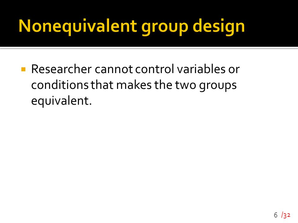 Nonequivalent group design