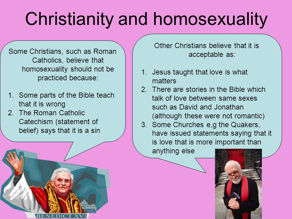 Roman catholicism and homosexuality in christianity