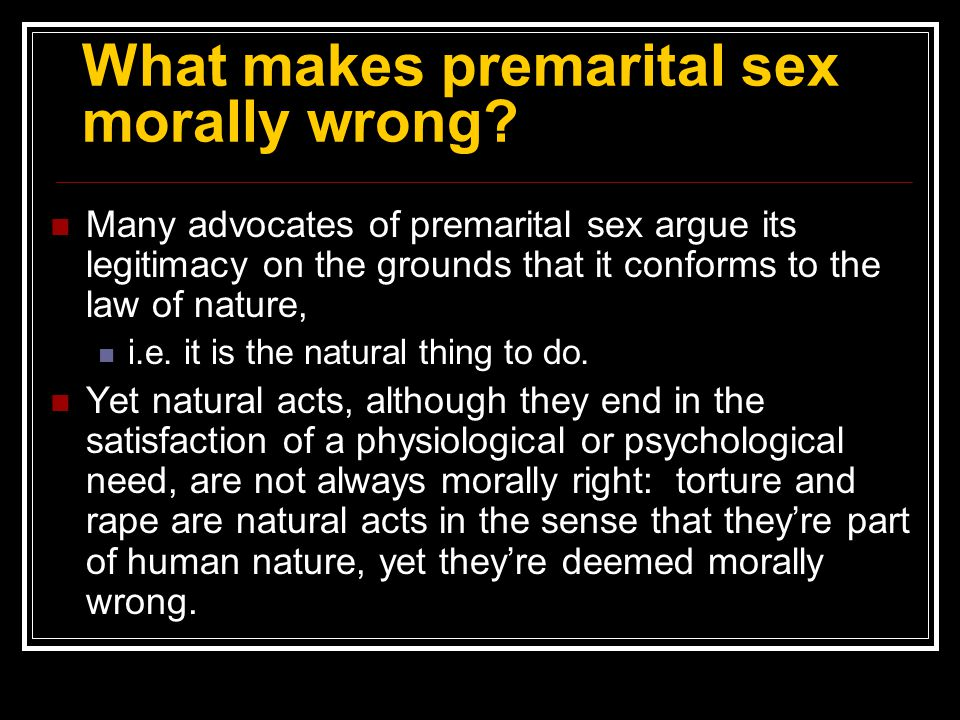 Condemned to be free essay about premarital sex