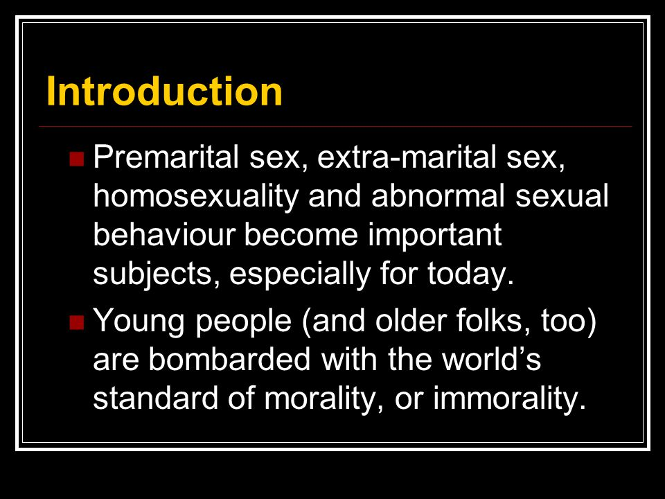 Why Premarital Sex Is Wrong