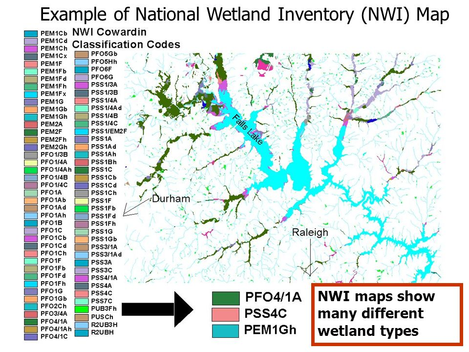 Example of National Wetland Inventory (NWI) Map