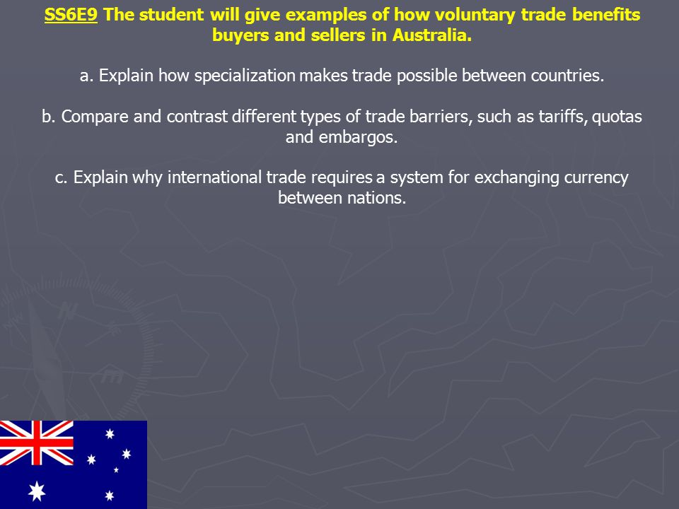 a. Explain how specialization makes trade possible between countries.