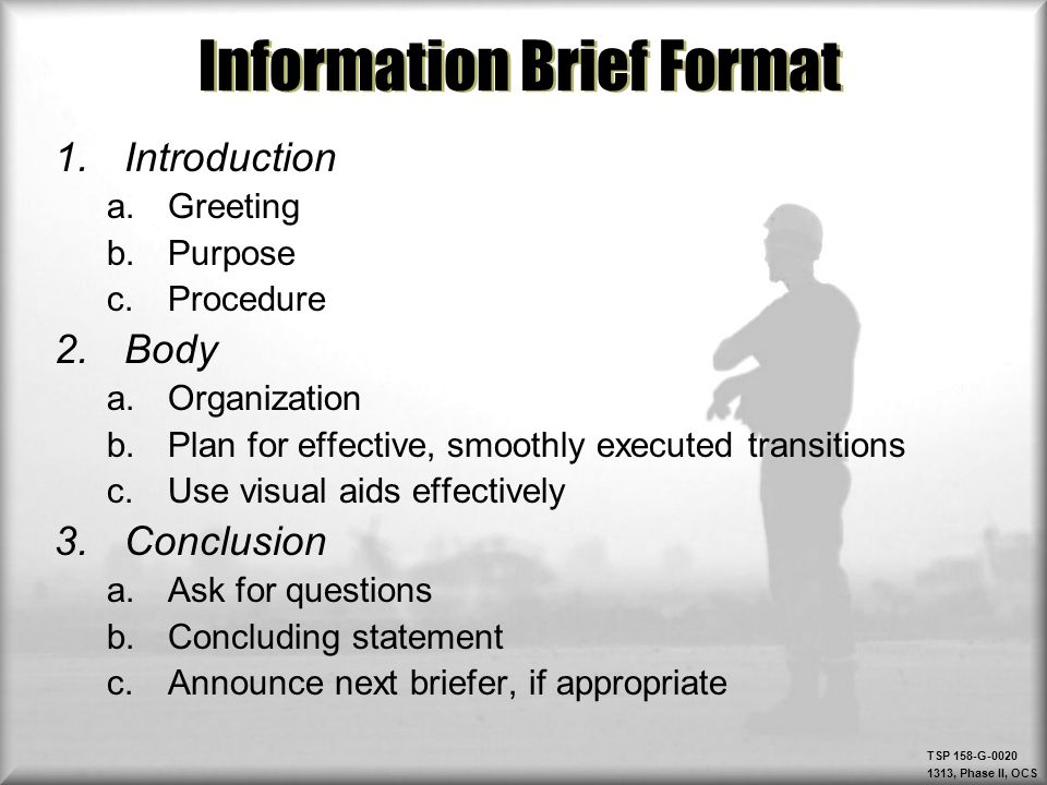 military briefing format