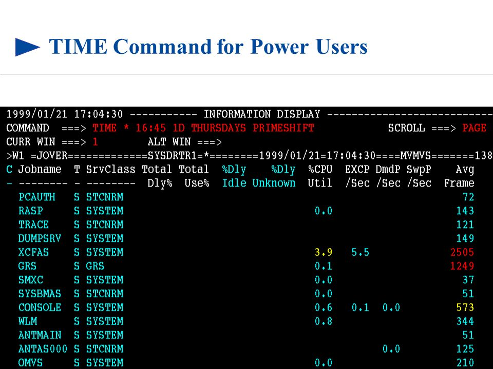 TIME Command for Power Users