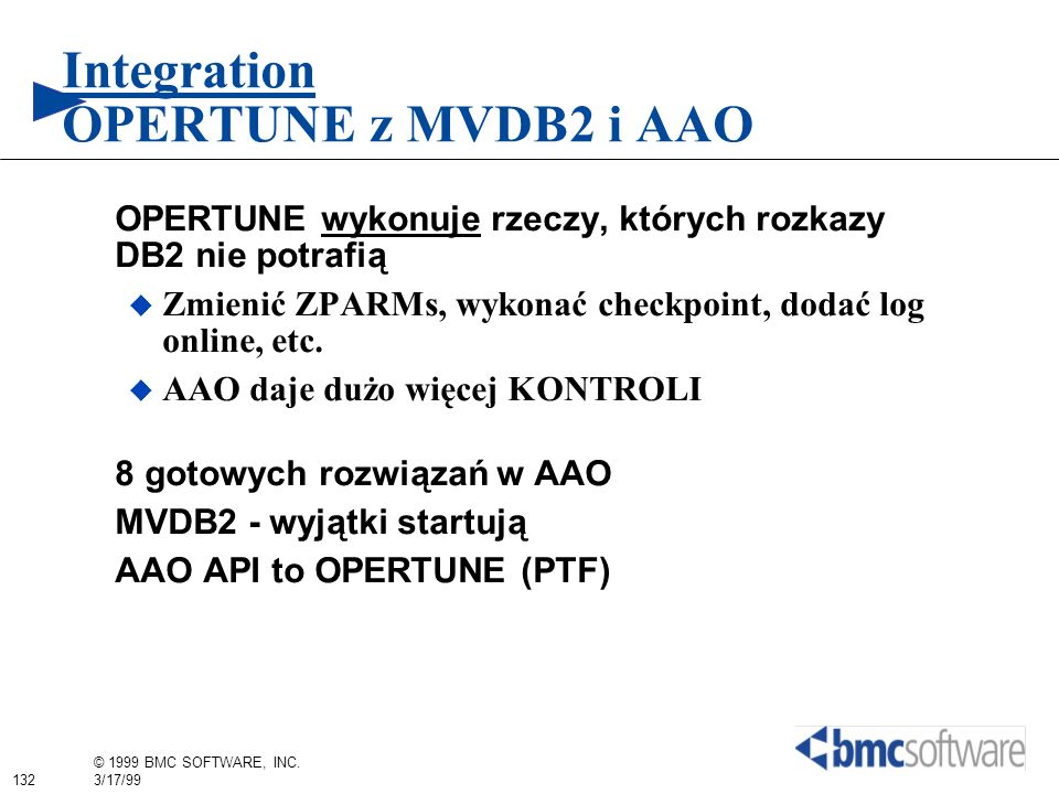 Integration OPERTUNE z MVDB2 i AAO