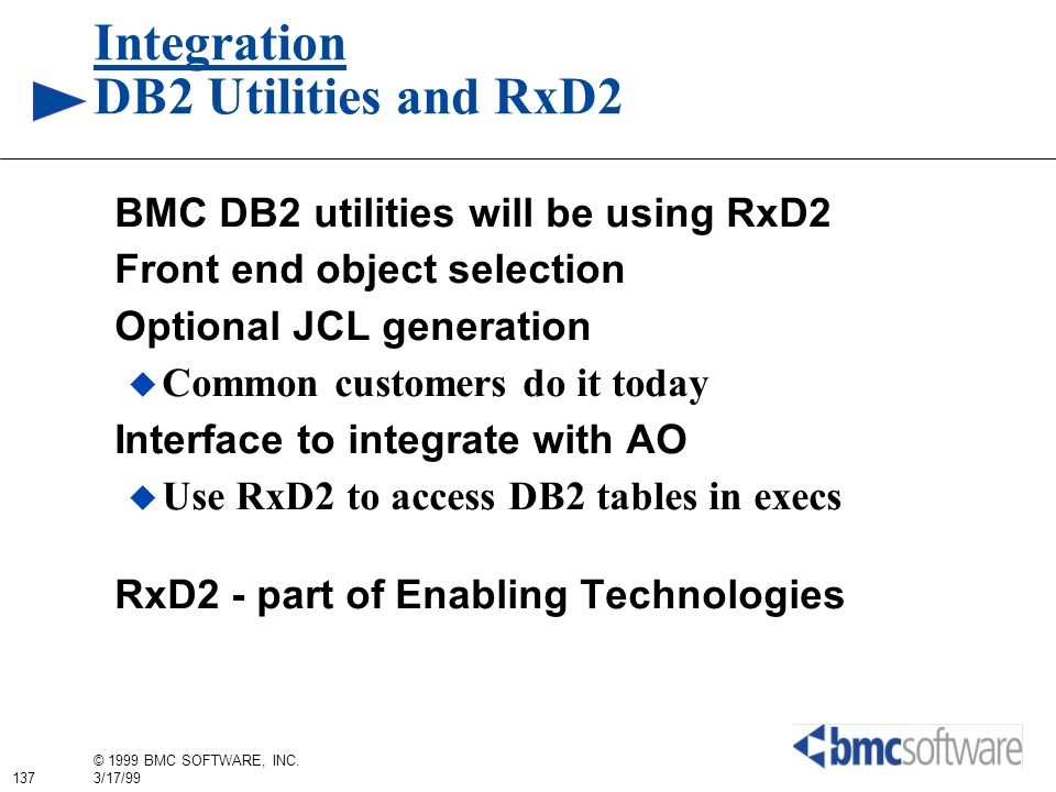 Integration DB2 Utilities and RxD2