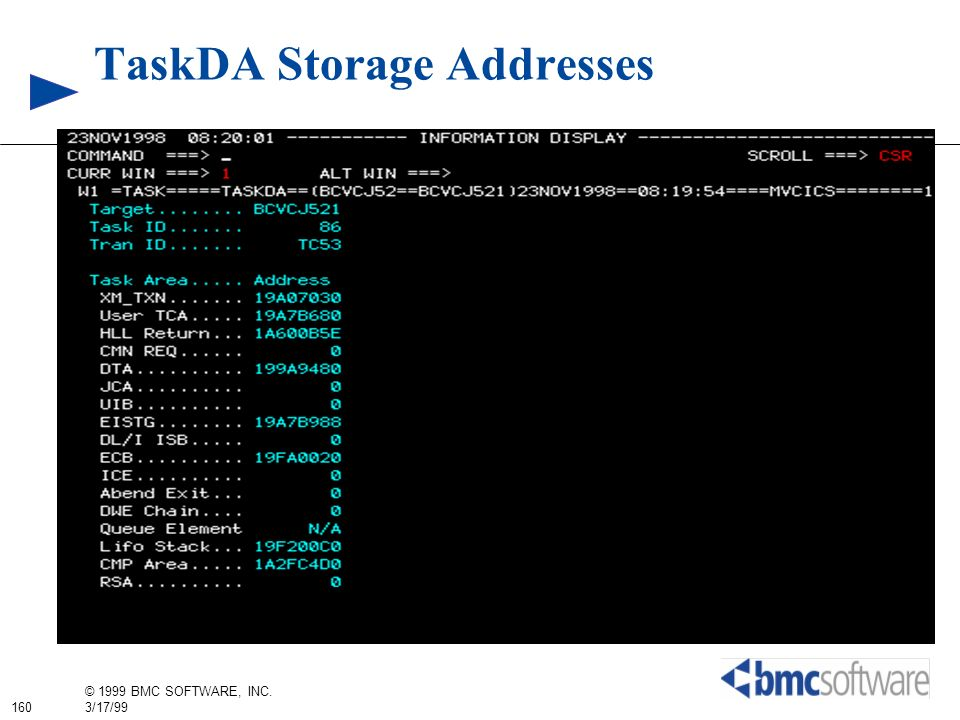 TaskDA Storage Addresses