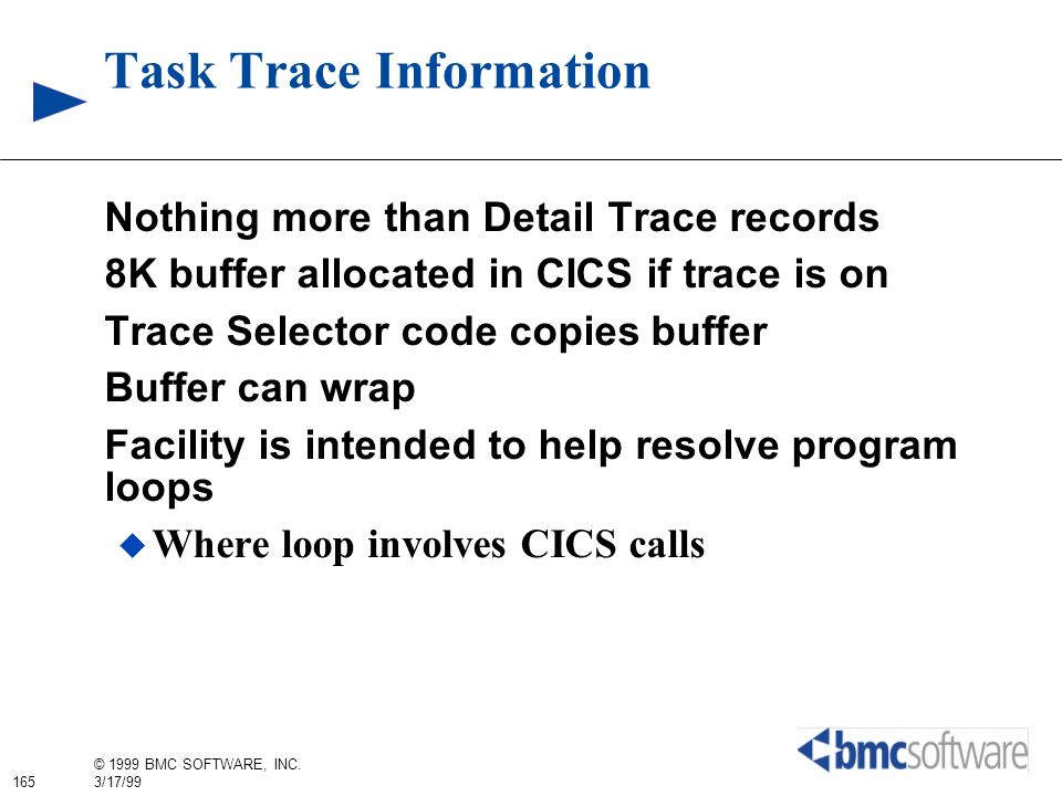 Task Trace Information