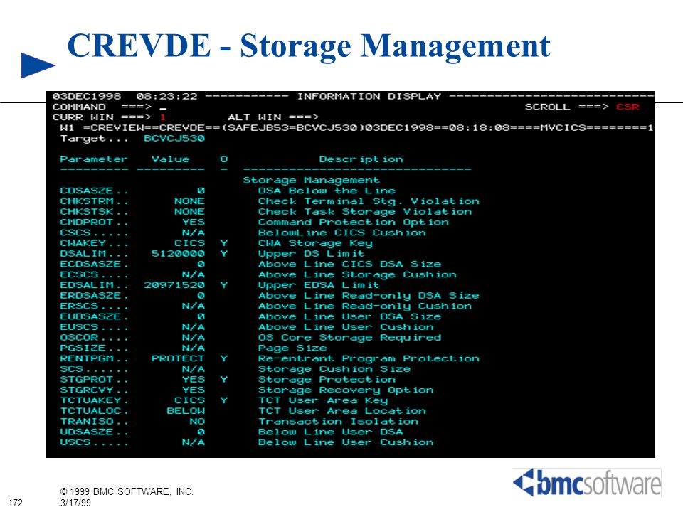 CREVDE - Storage Management