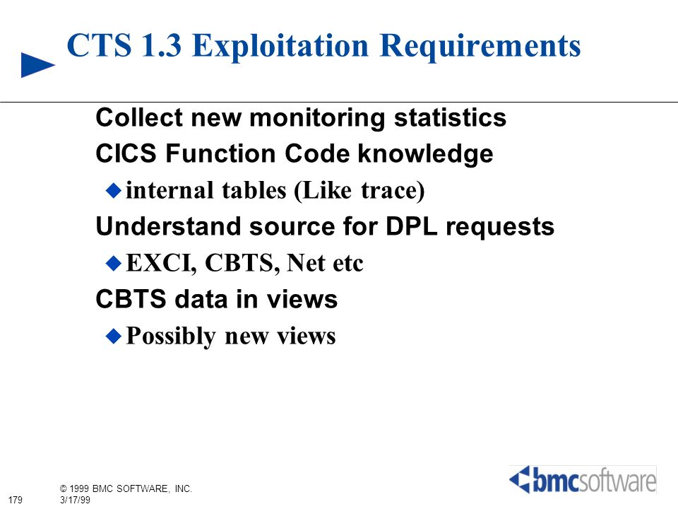 CTS 1.3 Exploitation Requirements
