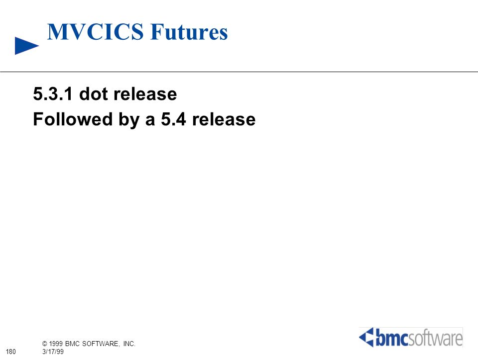 MVCICS Futures dot release Followed by a 5.4 release