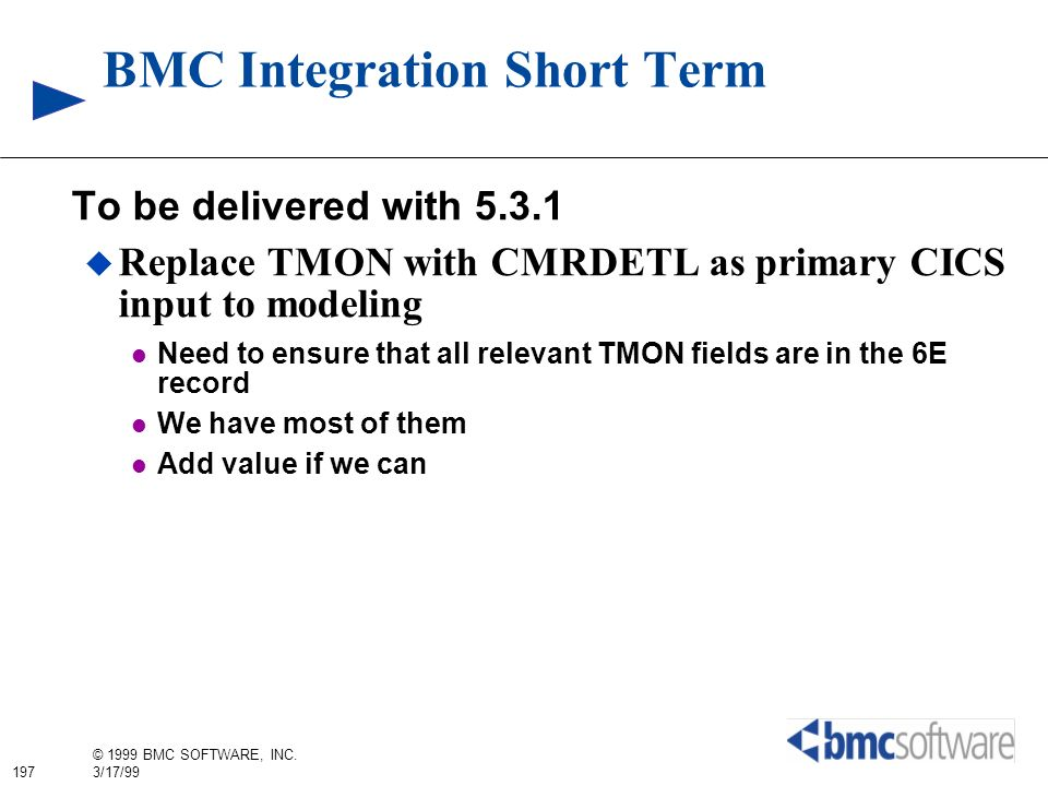 BMC Integration Short Term