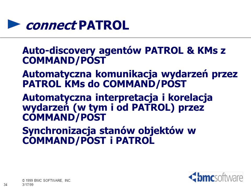 connect PATROL Auto-discovery agentów PATROL & KMs z COMMAND/POST